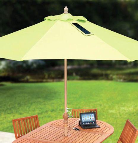 sombrilla paneles solares